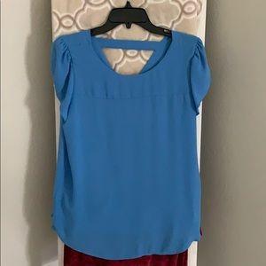 Blue loft blouse